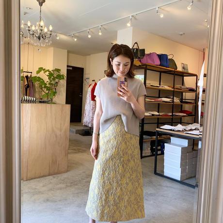 【Greed International グリードインターナショナル】Splash Jacquard Skirt-beige