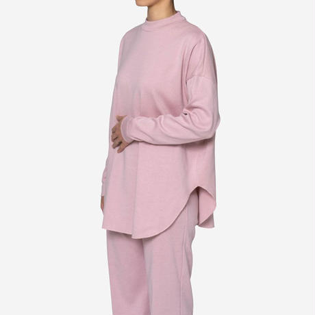 【Bed&Breakfast ベッド&ブレイクファースト】Natural Rib Big Top in Pink