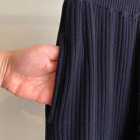 【siro de labonte シロ】lib pants (リブパンツ)black -R113107
