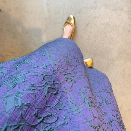 【Greed International グリードインターナショナル】Splash Jacquard Big Flare Dress-Light