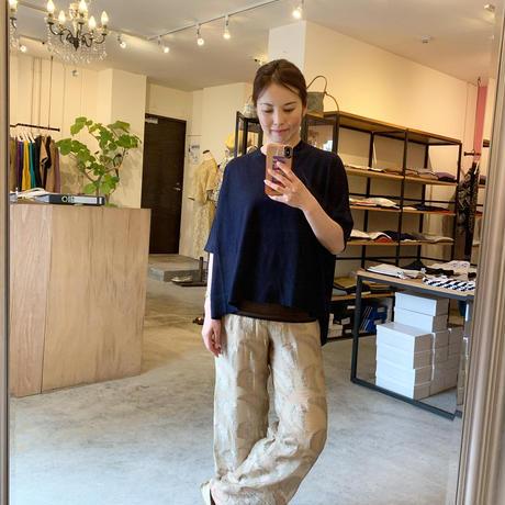【mieyamieya ミエヤミエヤ】air cashimere knit  (エアカシミアニット)ivory/grey/navy