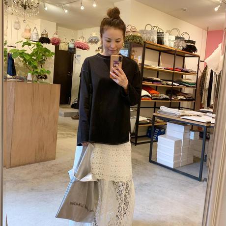 【Greed International グリードインターナショナル】Floral Geometric Chemical Lace Skirt (レーススカート)White