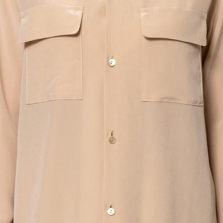 【Bed&Breakfast】Silk Crape Dechine Shirt in Beige