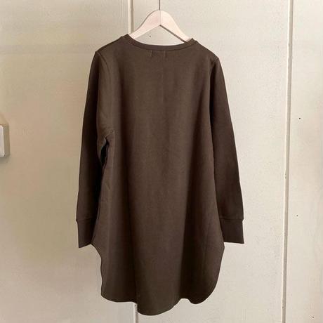 【siro de labonte シロ】 round pullover   (ラウンドプルオーバー)khakibrown -R113206