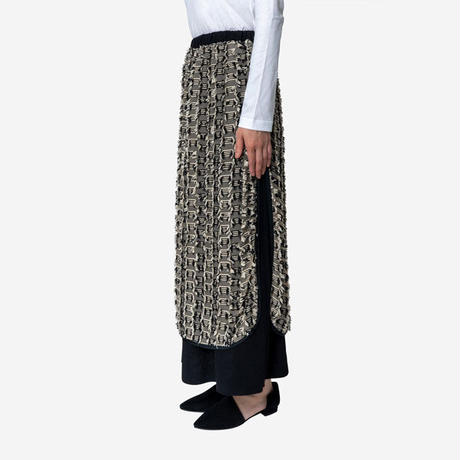 【Greed International グリードインターナショナル】Stripe Cut Jacquard Skirt (ストライプカットジャガードスカート)