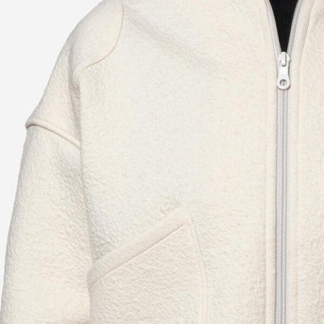 【Bed&Breakfast】Bonding Jacquard Zip Blouson in Ivory
