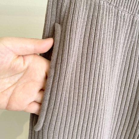【siro de labonte シロ】lib pants (リブパンツ)ashbeige -R113107