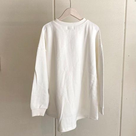 【siro de labonte シロ】triple star wide pullover   (コットンスウェット)offwhite -R113203