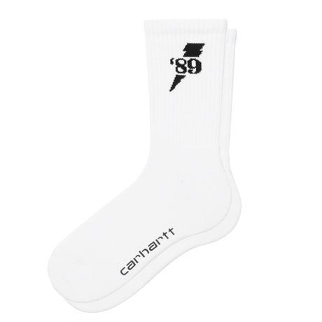 【Carhartt WIP /カーハートウィップ】INSIGNIA SOCKS - White / Black