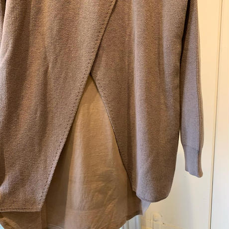 【siro シロ】cotton knit inner  (コットンニットインナー)white/beige/black