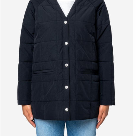 Nilon Taffeta Quilted Liner Half Jacket