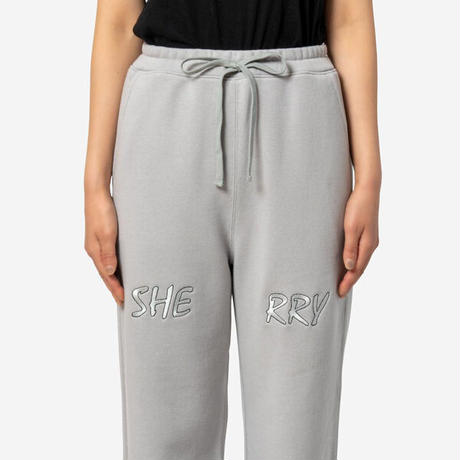 """【Oh Sherry オーシェリー】Oh Sherry  """"Winners"""" Sweat Pants in Gray"""