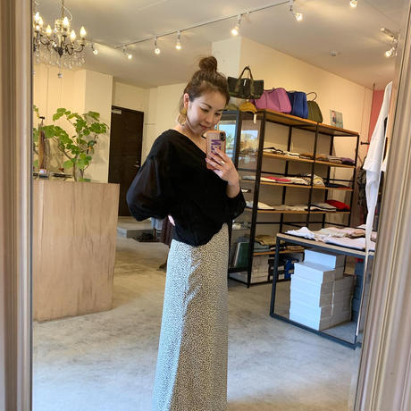 【siro シロ】2way tops  (2ウエイTシャツ) black/beige