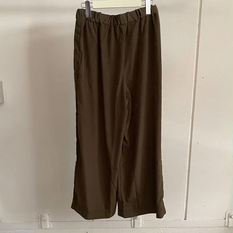 【siro de labonte シロ】CREPE wide pants  (ワイドパンツ)2color- R113308