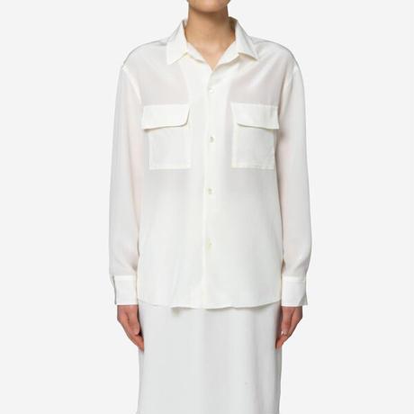 【Bed&Breakfast】Silk Crape Dechine Shirt in Off White