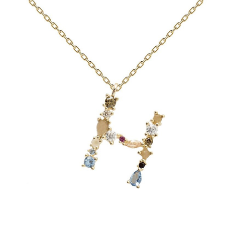 【PDPAOLA 】LETTER GOLD NECKLACE  (レターネックレス)