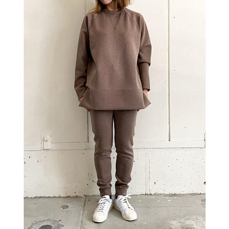 【Bed&Breakfast】【quan別注】double air sweat (ダブルエアースウェット)BROWNMIX