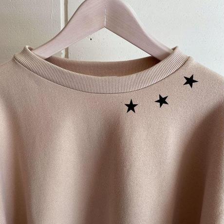 【siro de labonte シロ】triple star wide pullover   (コットンスウェット)beige  -R113203