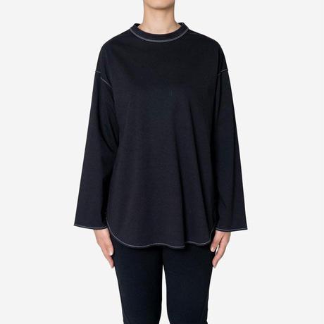 【Bed&Breakfast ベッド&ブレイクファースト】Diorama Hard Jersey Long Sleeve Tee (ディオラマハードジャージーロングスリーブ) White/Black