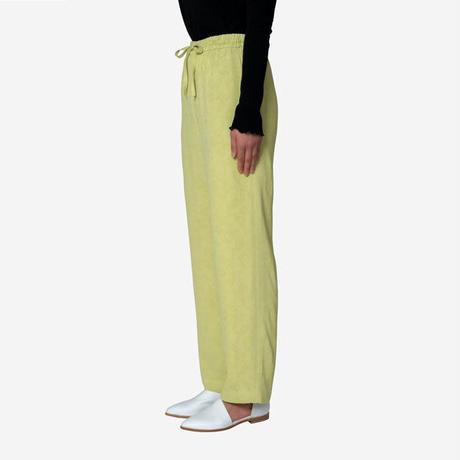 【Greed International グリードインターナショナル】Original Flower Crepe Jacquard Pants in Lime