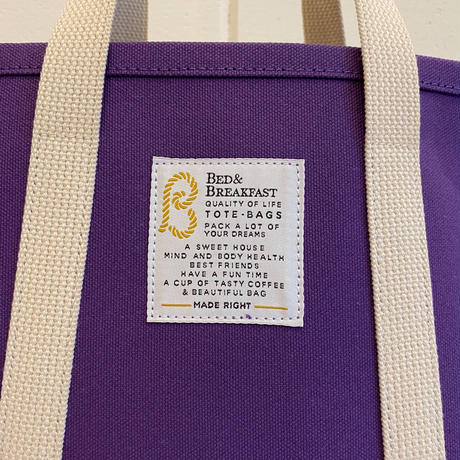 【Bed&Breakfast ベッド&ブレイクファースト】【quan別注カラー】TOTE BAG (トートバッグ)Mサイズ  Purple