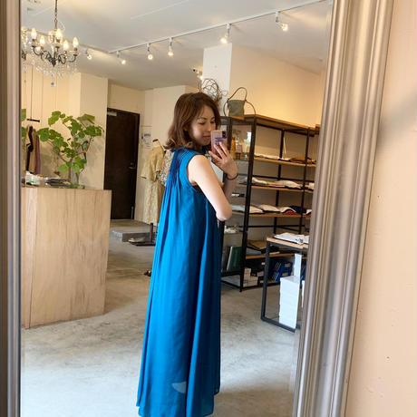 【mieyamieya ミエヤミエヤ】silk  onepiece (シルクワンピース) blue