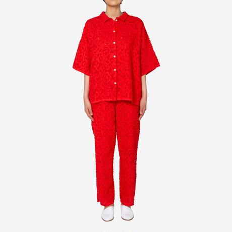 【Greed International グリードインターナショナル】Original Flower Cut JQ Shirt in Red