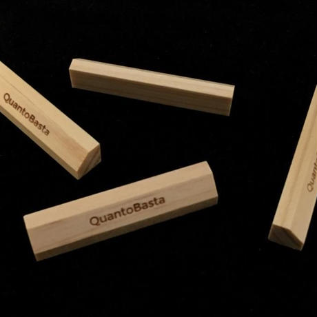 QuantoBasta カンナ仕上げのヒノキの箸置き 4個セット