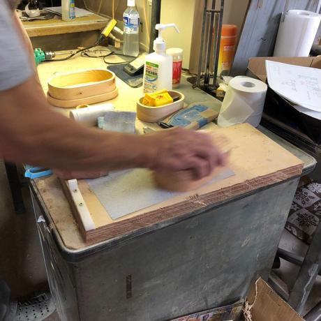 QuantoBasta 月齢伐採ヒノキのくり抜き弁当箱 #1