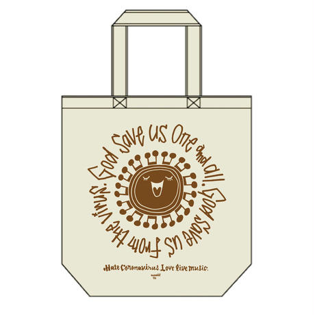 """HAJIME ANZAI""""God Save us One and all. God save us from the virus.""""Tote(LIMITED)"""