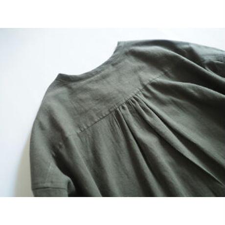 No.281op(G) ラウンドネックドレス/オリーブグリーン