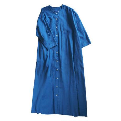 No.281op(B) ラウンドネックドレス/ブルー