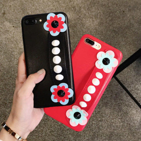 フラワーモチーフiPhoneカバー