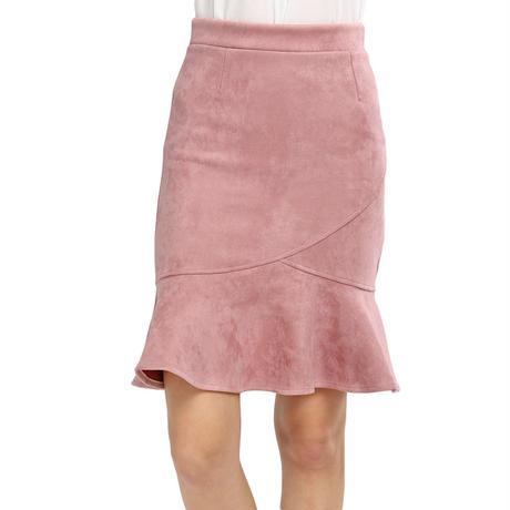 スエード調マーメイドスカート