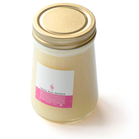 White Raw Honey 460g円すい瓶
