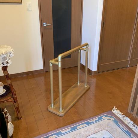 「イーテスリ フロア・廊下型」 自在設置手すり 木製 【組立不要】日本製