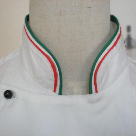 【イタリア製】コックコート イタリア(イタリア国旗柄)エゴシェフ