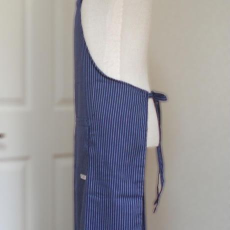 【イタリア製】胸付きシェフエプロン フランス(ストライプ柄) エゴシェフ