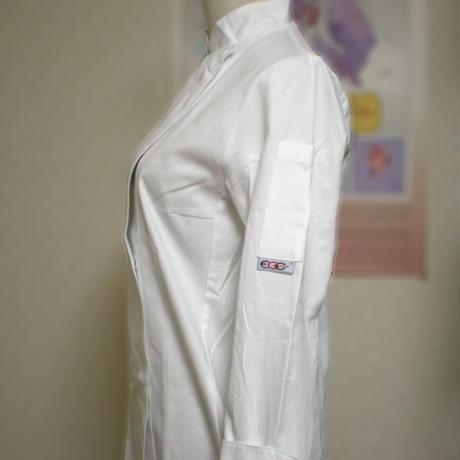 【イタリア製】レディースコックコート ホワイトガール・スリムフィット エゴシェフ