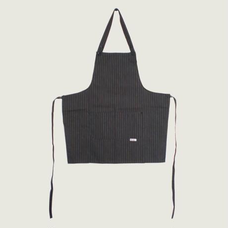 10%OFF【イタリア製】胸付きショートエプロン カカオ(茶色ストライプ柄)エゴシェフ