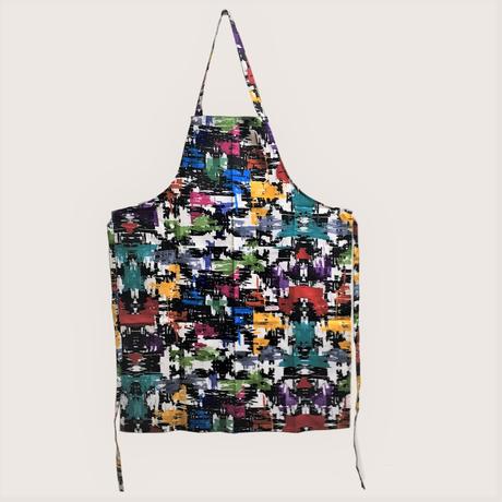 【イタリア製】胸付きシェフエプロン グラフィック
