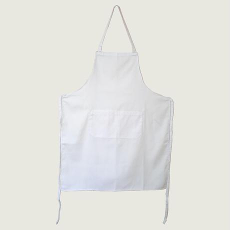 【イタリア製】胸付きシェフエプロン ホワイト エゴシェフ