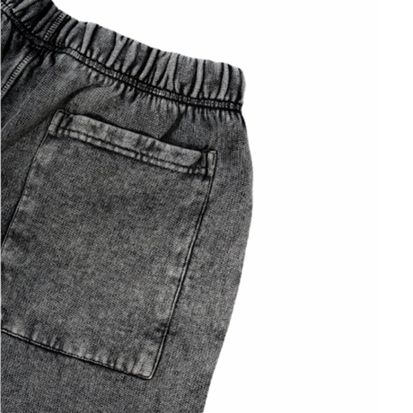 WASTED/Short Faded Signature Faded Black