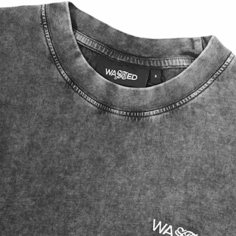 WASTED/T-Shirt Faded Signature Faded Black