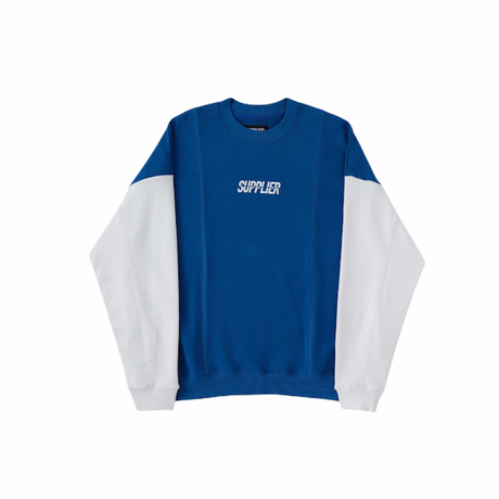 BICOLOR LOGO CREW SWEAT  SUPPLIER