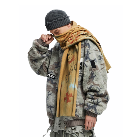 Camouflage cashmere jacket/TGNS
