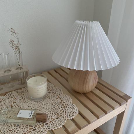 ヴィンテージ・プリーツシェードランプ   *wood *