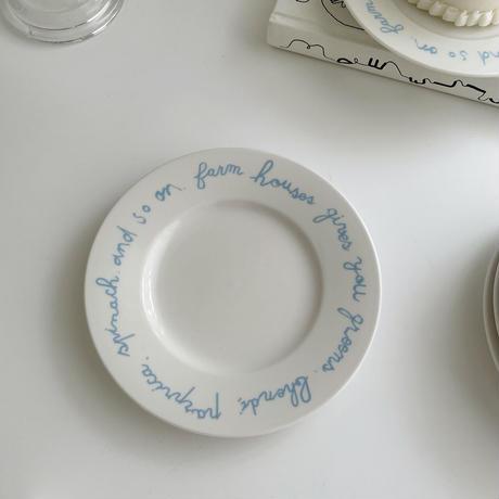 cotton blue lettering plate