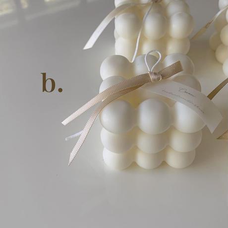 キャンドルのデコレーションリボンのサンプル  *お好みのリボンをお選び頂けます