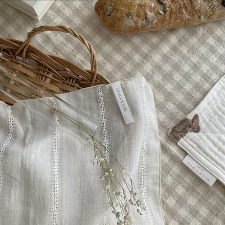 milkyway   kitchen cloth  ベージュチェック